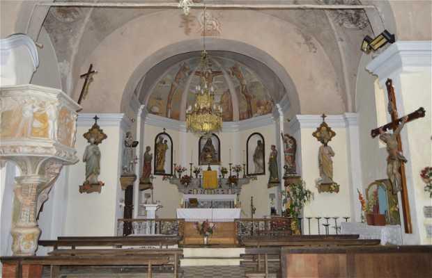 Interiores de la Iglesia de Ventiseri