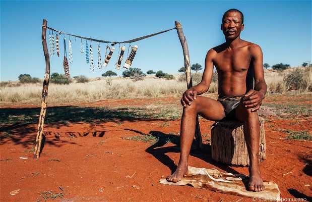 """Bushmen Walk"" em Bagatelle"