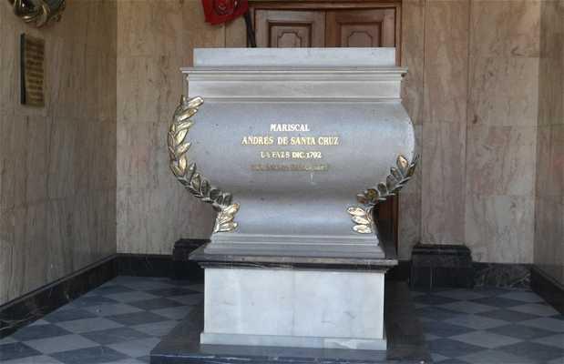 Le tombeau de Mariscal Andrès de Santa Cruz