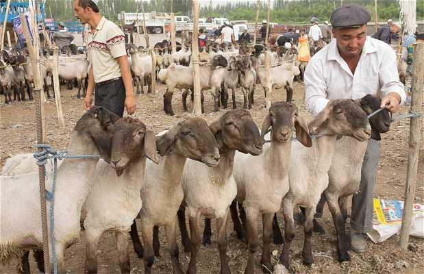 Mercado dominical de animales
