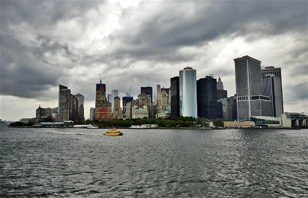 Vue sur Manhattan depuis le ferry