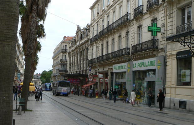 Calle Maguelone, Montpellier, Francia