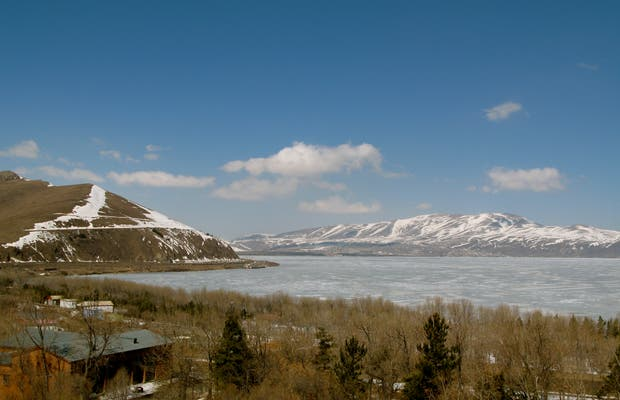 Lake Sevan and the Hayravank Monastery
