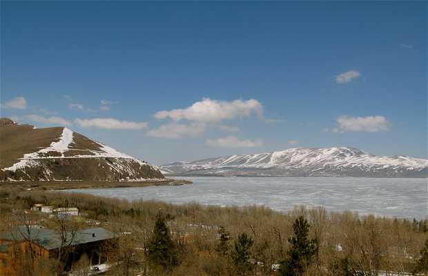 Lake Sevan and the Hayravank monastery