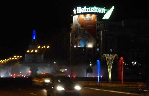 Fontaine lumineuse de Bucarest