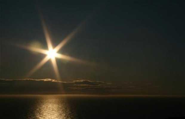 Il sole di Mezzanotte a Honningsvåg