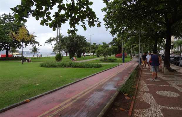 Jardim da orla de Santos