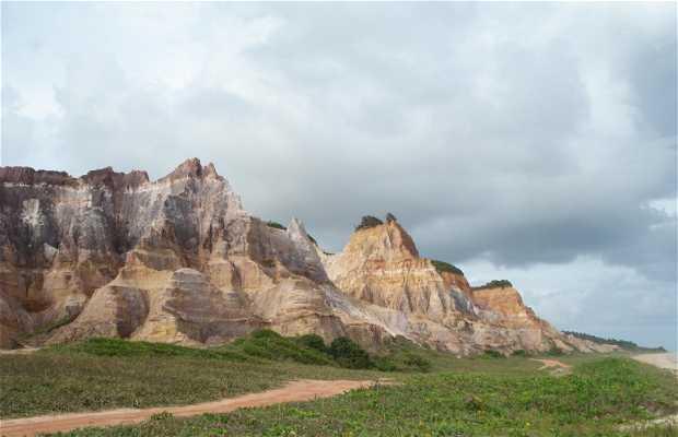 Falésias Praia do Gunga