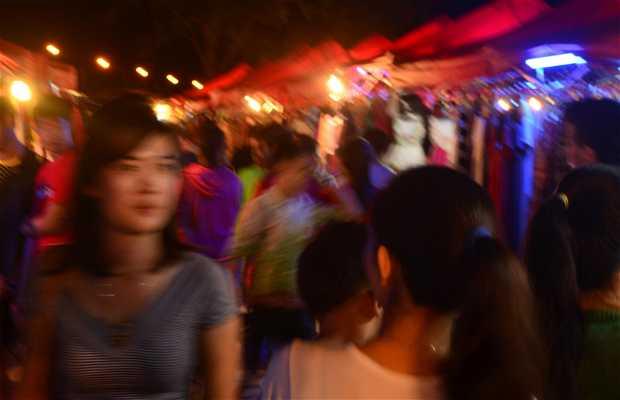 Mercado nocturno de Vientiane, Laos