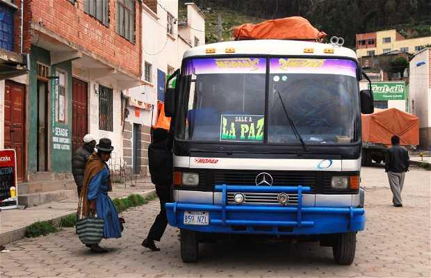 Route de Copacabana à La Paz