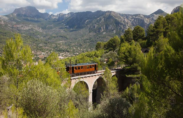 Train from Palma to Soller