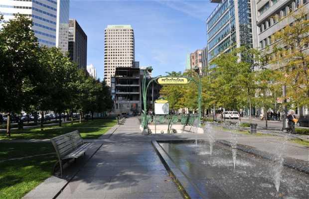 La station de métro Square Victoria à Montréal