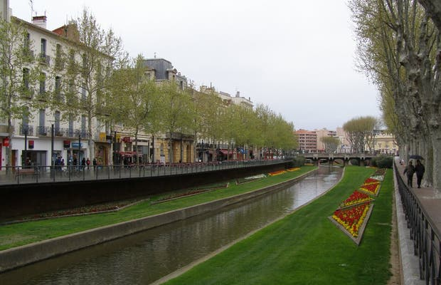 Il fiume Tet a Perpignan