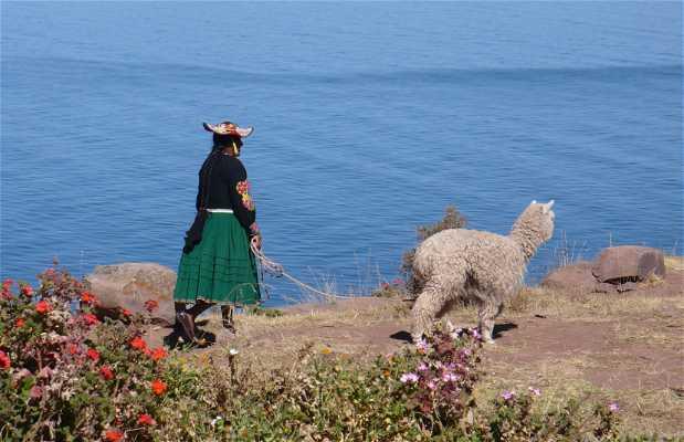 Comunidad de Llachon, península de Capachica, Lago Titicaca, Perú