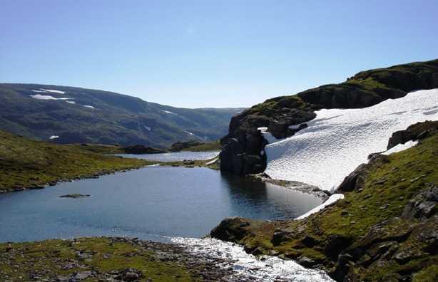 Aurlandsvegen in Norvegia
