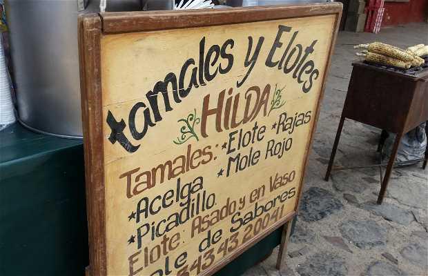 Tamales y elotes en Tapalpa