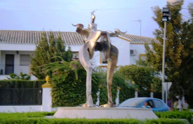 The replica of the Gallo of Morón
