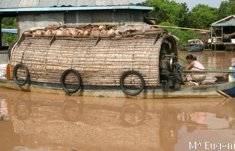 Poblados flotantes en el Lago Tonlé Sap