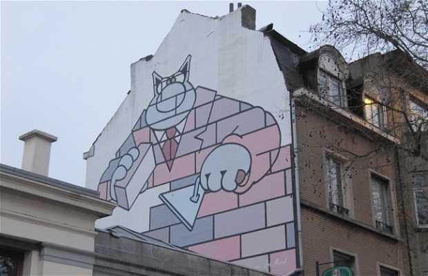 Fresque Le Chat - BD de Geluck
