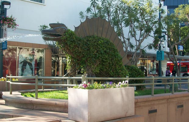 Fontaine aux dinosaures