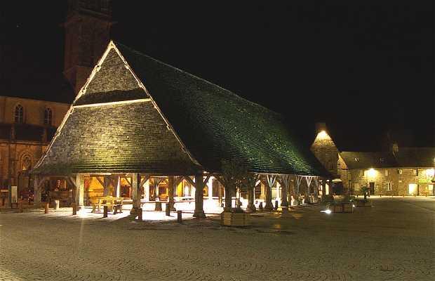 Hall de madera en Plouescat - Las Halles Plouescat