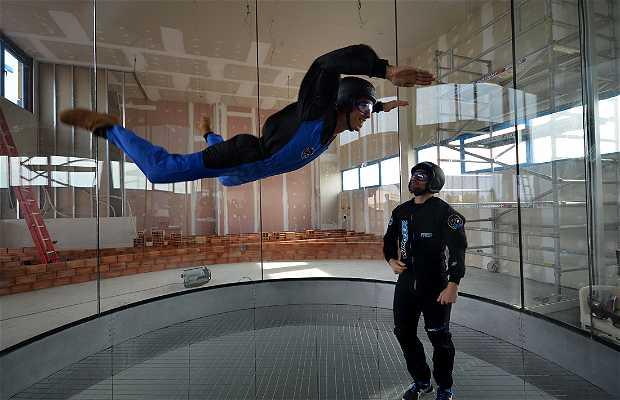 Volar en el túnel de viento de Windoor