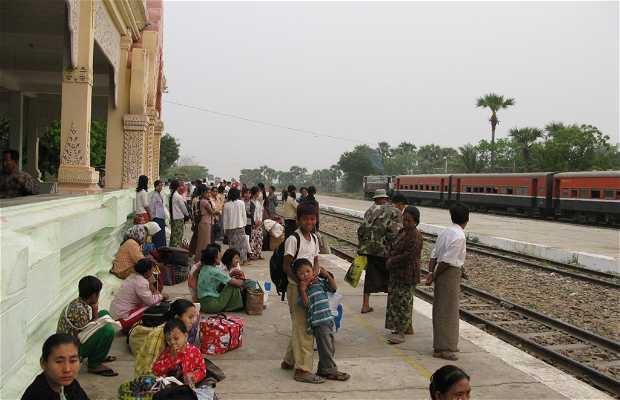Train station in Bagan