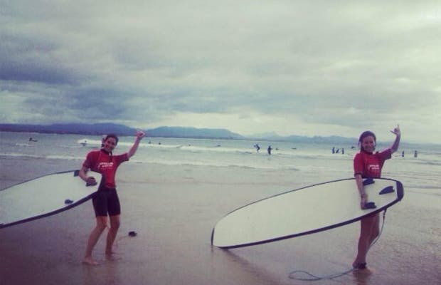 Surfing Time in Byron Bay