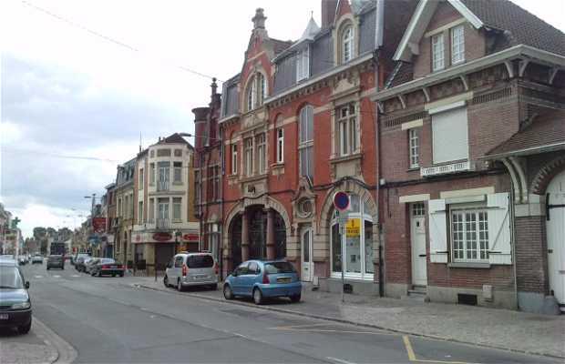 Frente de casas de notarios