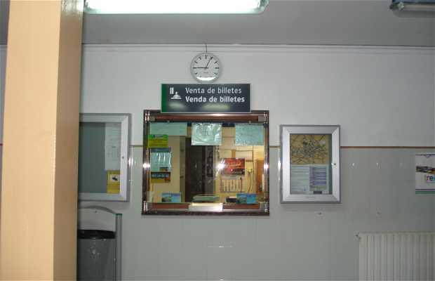 Estación de trenes en Sarria
