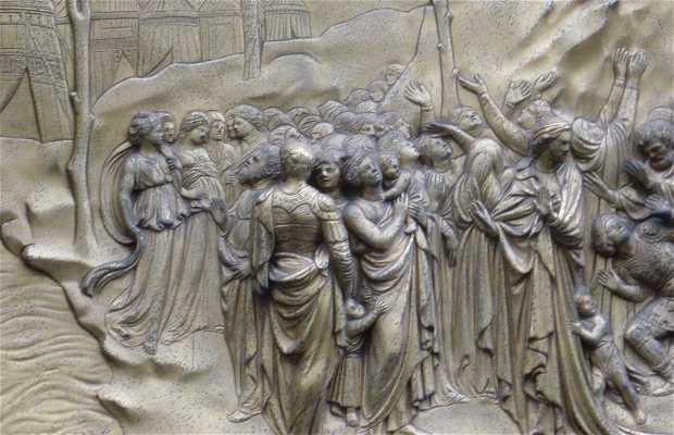 Les portes du baptistère de Florence