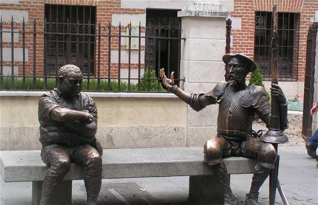 Statue of Don Quixote and Sancho Panza