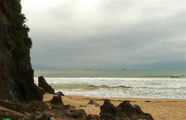 Escalada na Praia Brava (Canto do Morcego)
