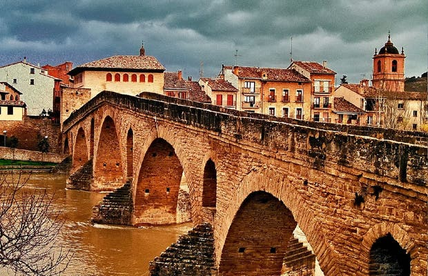 Romanesque Bridge Over the Arga