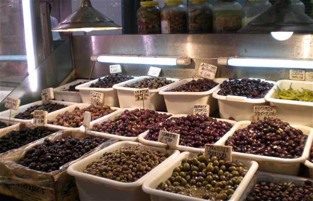 Mercato della frutta e verdura ad Atene