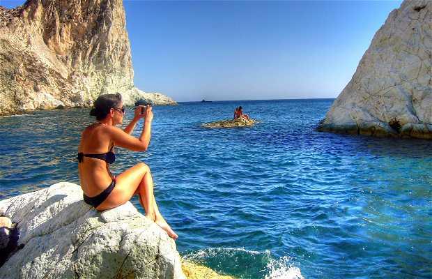 Spiaggia bianca di Santorini