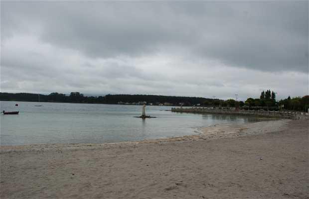 Playa urbana de O Grove