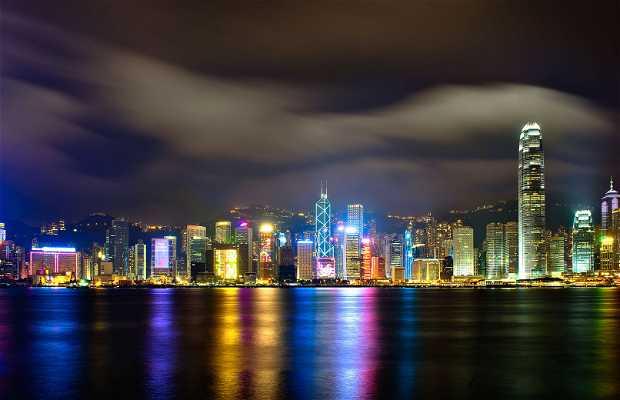 Vue de la ville de Hong Kong