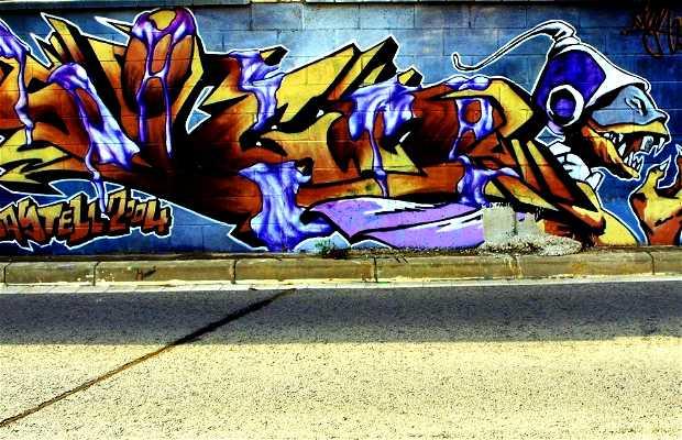 Grafitis en la Vía (Paseo por Castelldefels)