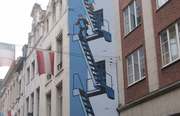Mural Tintin - Hergé