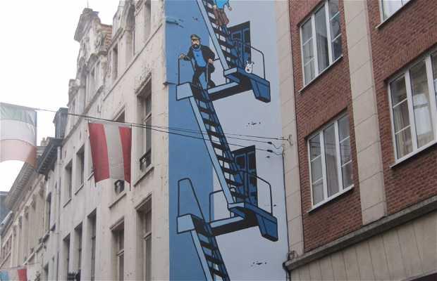Tintin Mural - Hergé
