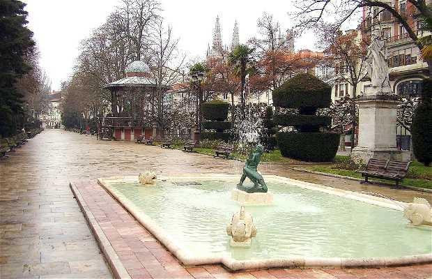 Paseo del Espolón a Burgos