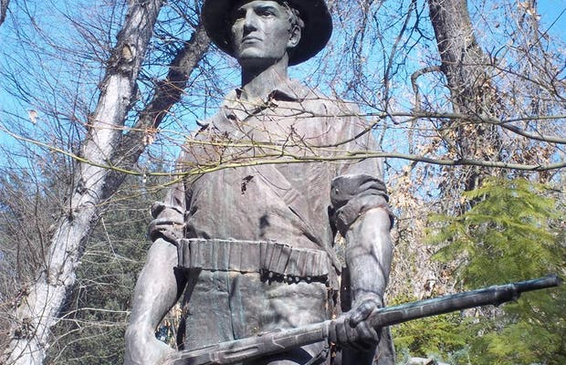 The Hiker Statue