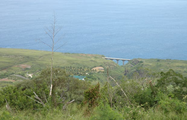 Vista sobre el Oceano indio