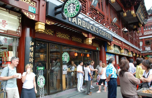 Image result for starbucks coffee shanghai china photos""