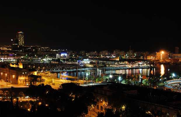Vistas nocturnas desde Montjuic