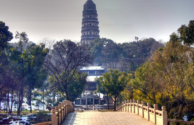 The Tiger Hill and the leaning pagoda