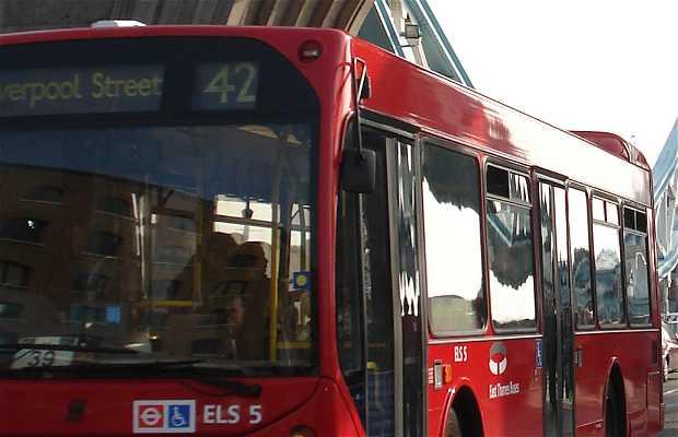 La ruta del autobus 15 en Londres