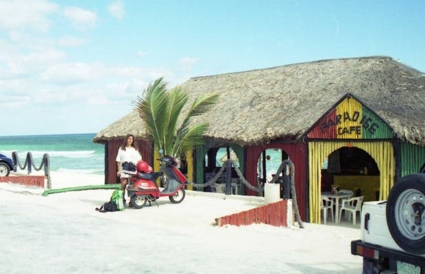 Cozumel on a motorcycle