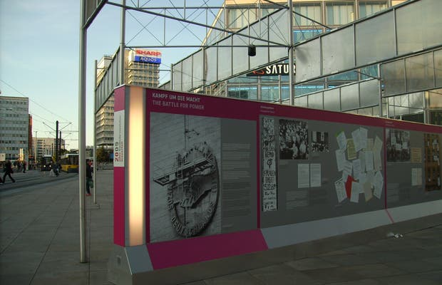 Exhibition of the 20th anniversary of the fall of the Berlin wall